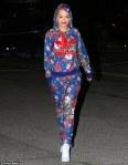 Rita Ora Floral Tracksuit